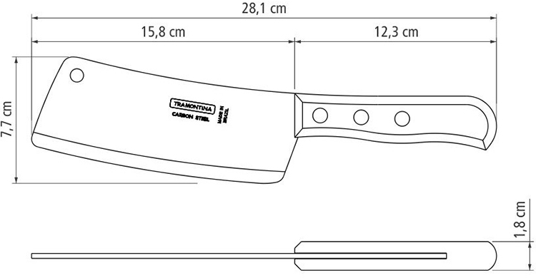 Dao chặt xương Tramontina Carbon 15cm 22956106