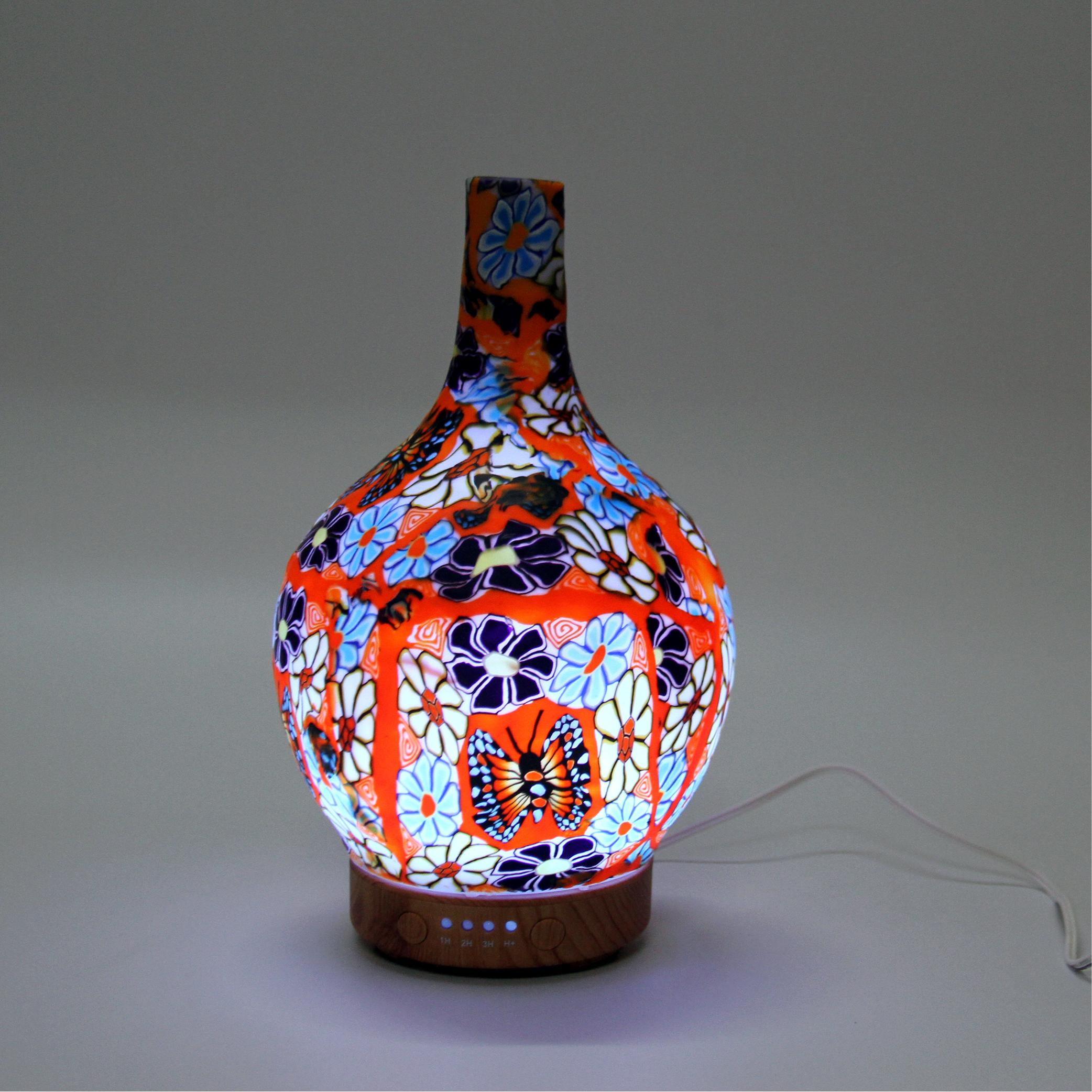Máy khuếch tán Tinh dầu hình Lọ hoa 3D