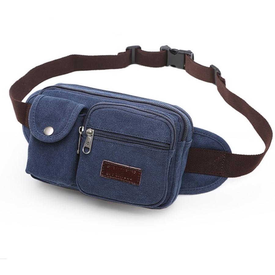 Túi đeo hông nam cao cấp thời trang, dùng đeo trước bụng, chất liệu vải dầy bền chắc, nhiều ngăn chứa, dây đeo dài, dễ dàng tăng giảm kích thước HQC7603