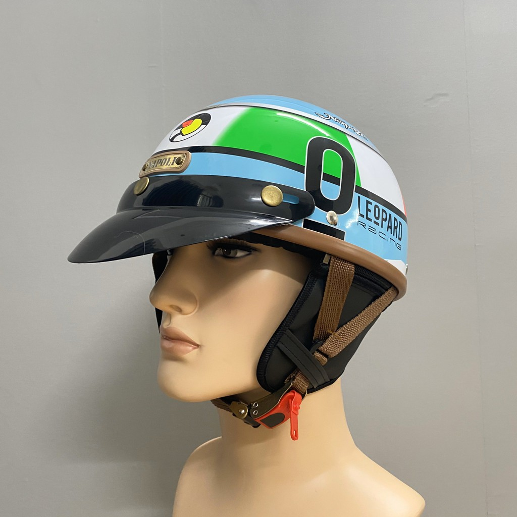 Mũ Bảo Hiểm ½ Đầu Napoli N120 Haley Tem LEoPARD O - Freesize (57 - 59 cm)