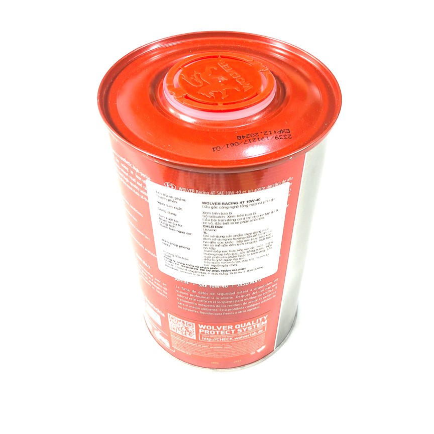 Dầu nhớt Wolver Racing Synthetic 4T 10W40 (1L)