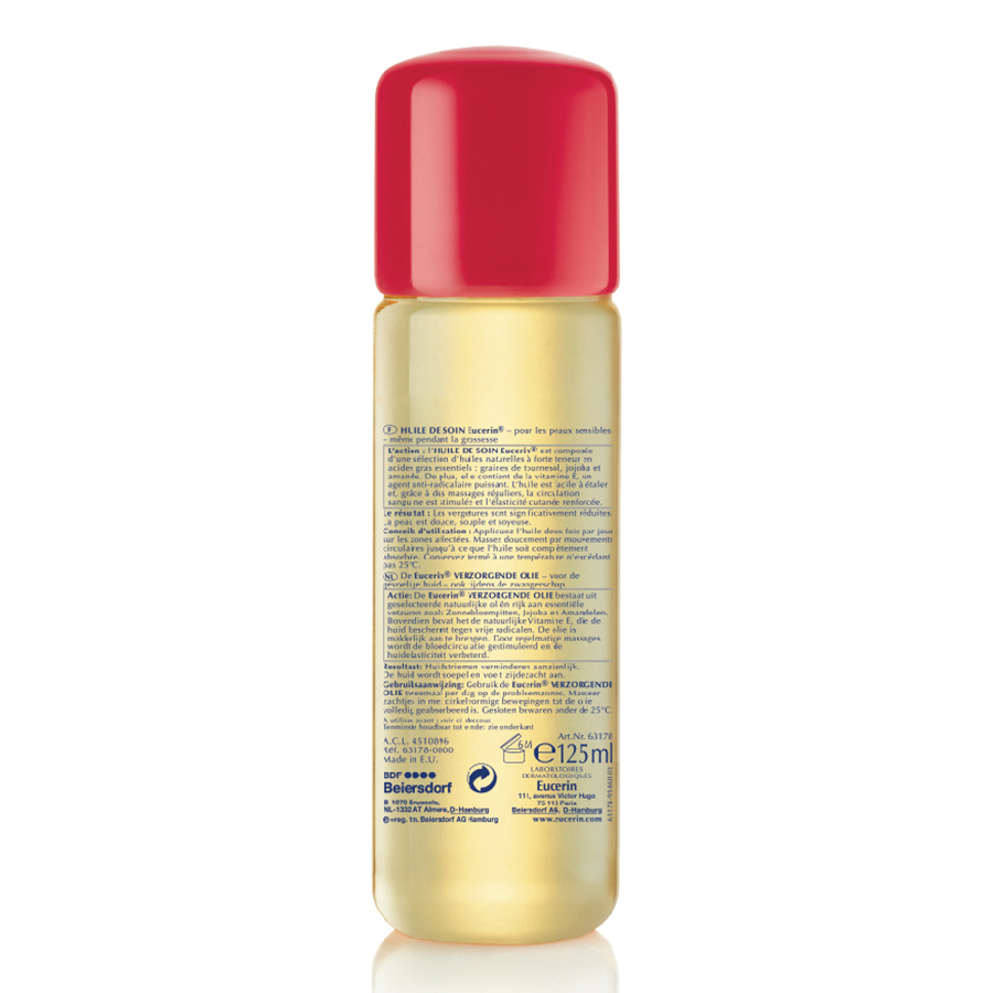 Dầu Giảm Rạn Da Eucerin Peau Sensible Huile De Soin Verzorgende olie (125ml)