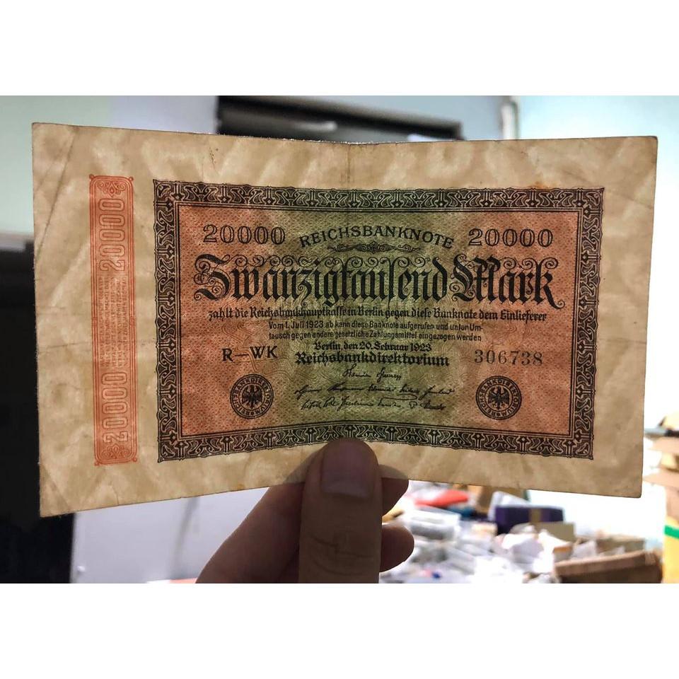 Tờ 20000 Mark Đức 1922, tiền cổ 100 năm tuổi sưu tầm