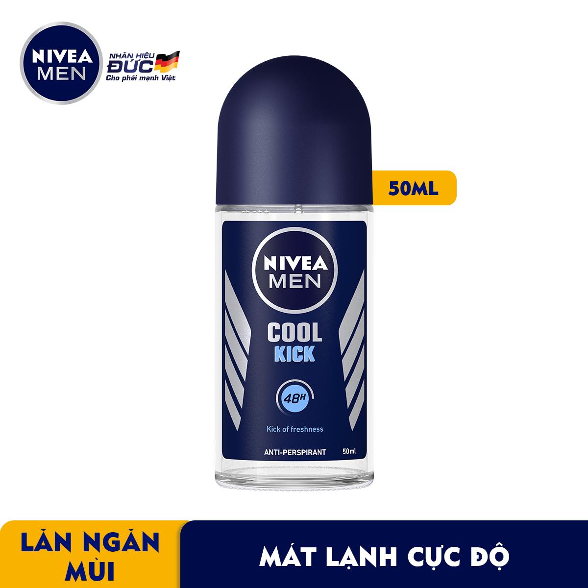 Lăn Ngăn Mùi NIVEA MEN Cool Kick Mát Lạnh (50ml) - 82886