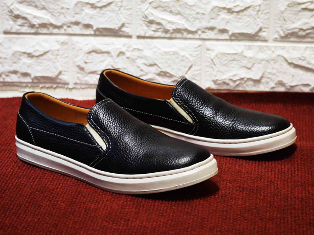 Giày lười, giày mọi nam Da Bò OML08