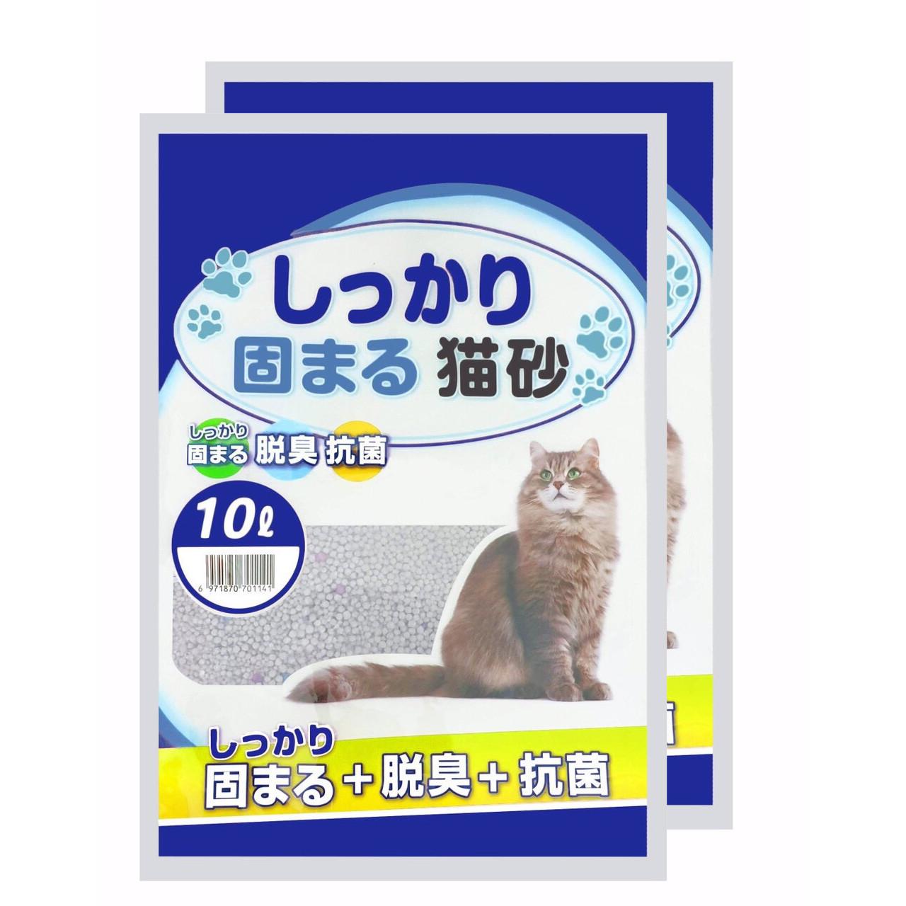 Combo 2 Túi Cát vệ sinh cho mèo Cat Litter 10L hàng xuất Nhật (Được Chọn Mùi)