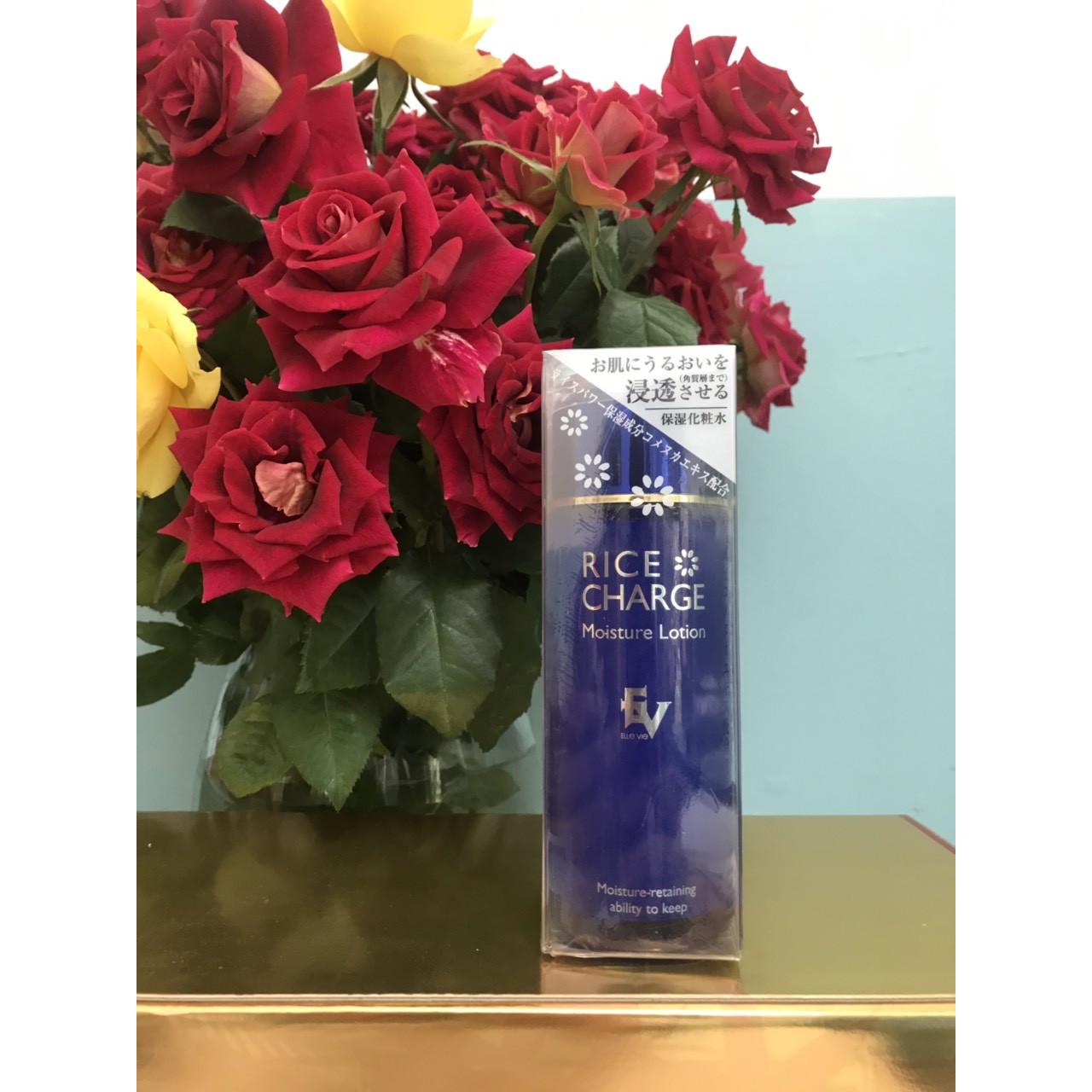 Nước hoa hồng dưỡng trắng da tinh chất Gạo RICE CHARGE 120ml an toàn với mọi loại da