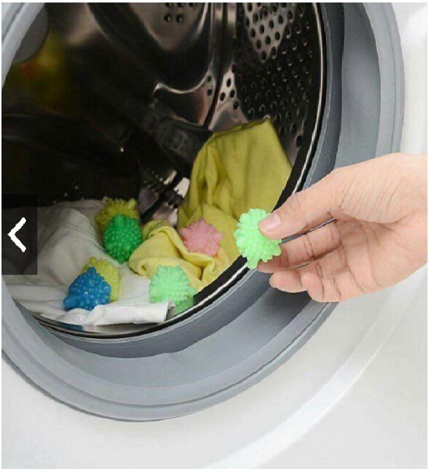 Set 10 Bóng giặt cao su cầu gai giặt phẳng quần áo