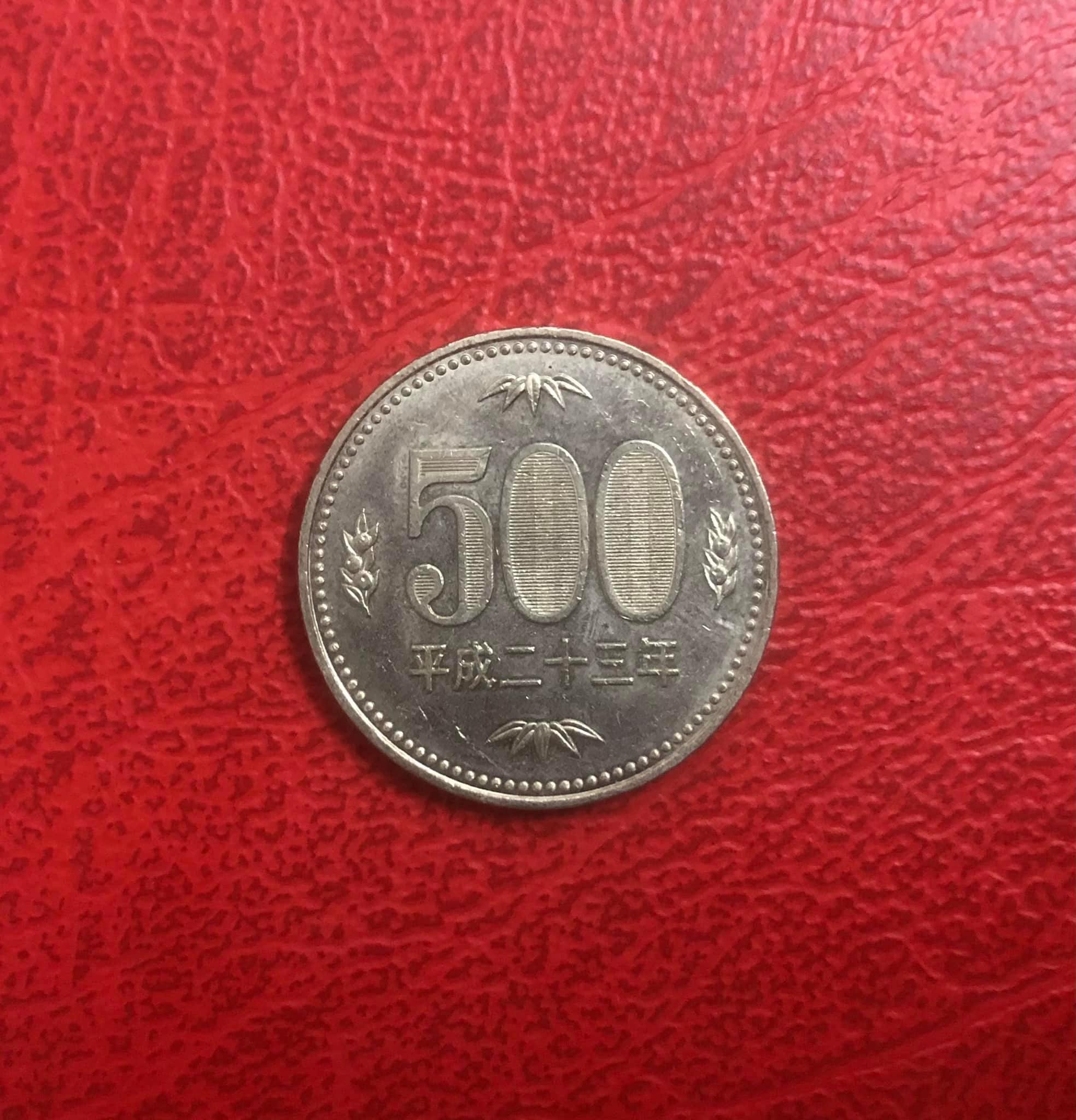 Đồng xu 500 yên của Nhật Bản, đồng xu có mệnh giá cao nhất thế giới