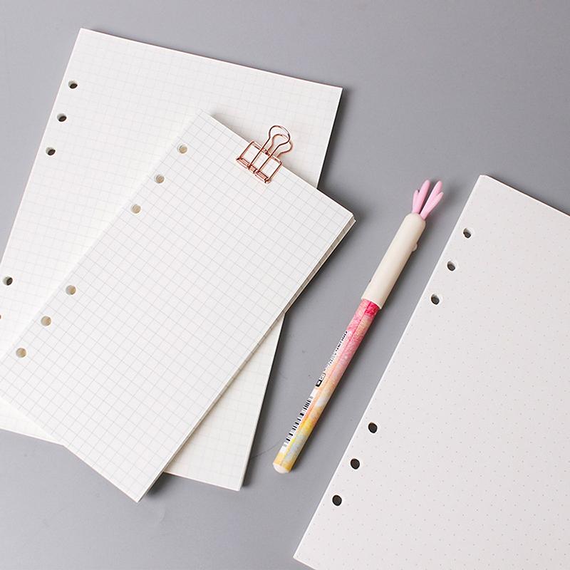Tập giấy refill kẻ ô vuông 6 lỗ cỡ A5 - 210x142mm