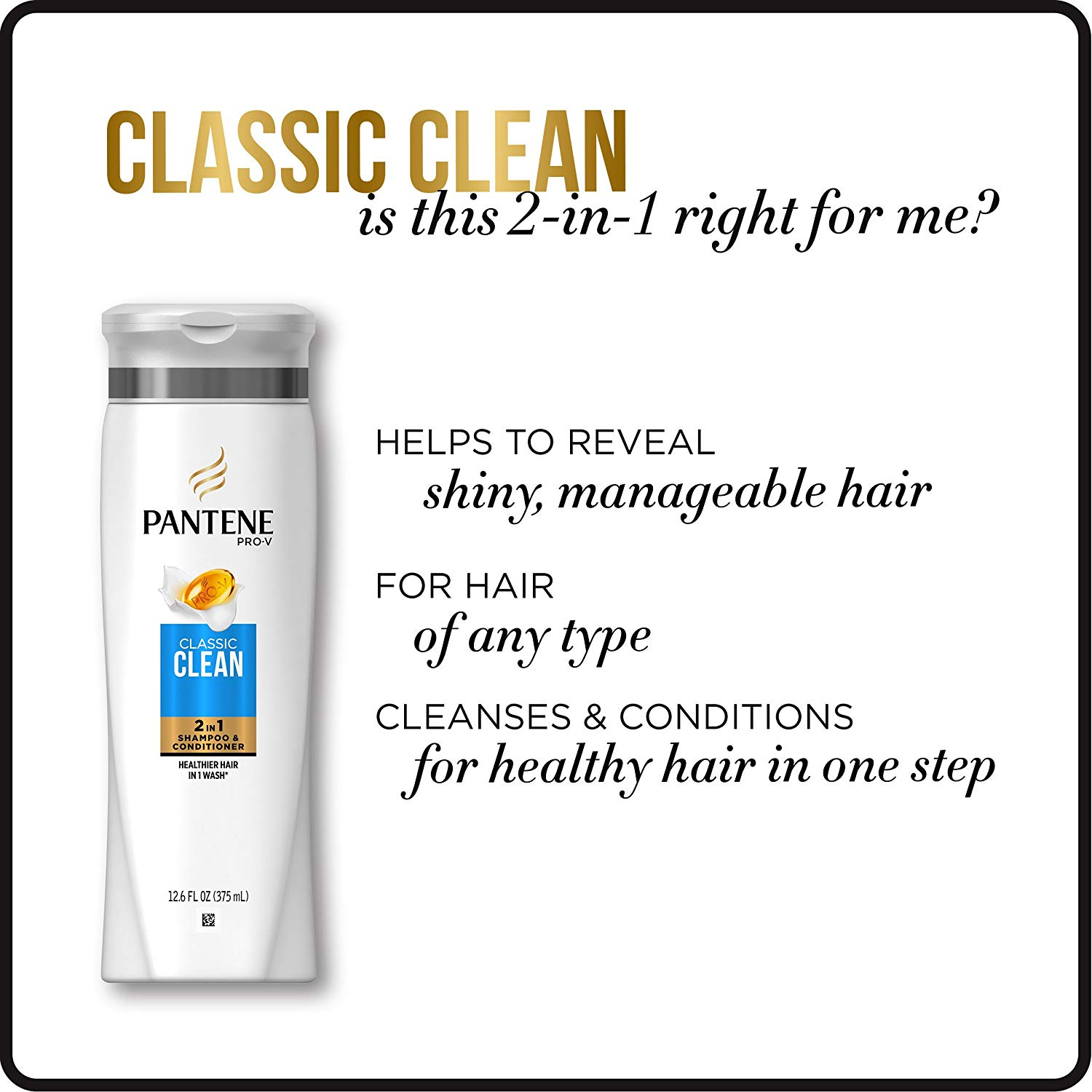 Dầu gội xả Pantene Shampoo & Conditioner 2IN1 Classic 750ml - USA