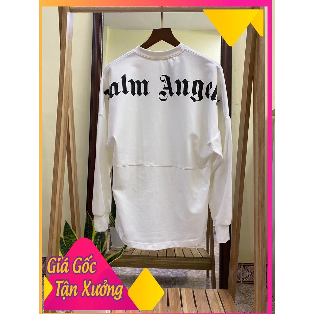 Áo thun Palm Angels Sweater ( lưng áo ), áo phông dài tay form rộng Hottrend2020 ( Nam, Nữ ) ( Màu Trắng )
