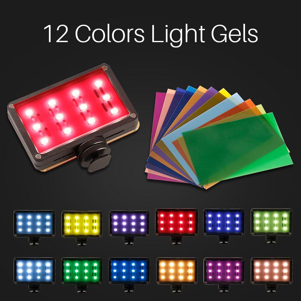 Đèn LED Sạc Ulanzi Rechargeble LED Video Light 12 Tấm Màu, Kích Thước Nhỏ Gọn, Dung Lượng Pin Lớn 2250mAh - Hàng Chính Hãng