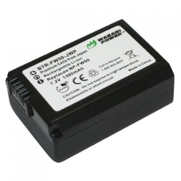 Combo 1 pin Li-ion + sạc Wasabi Sony FW-50 - Hàng Chính Hãng