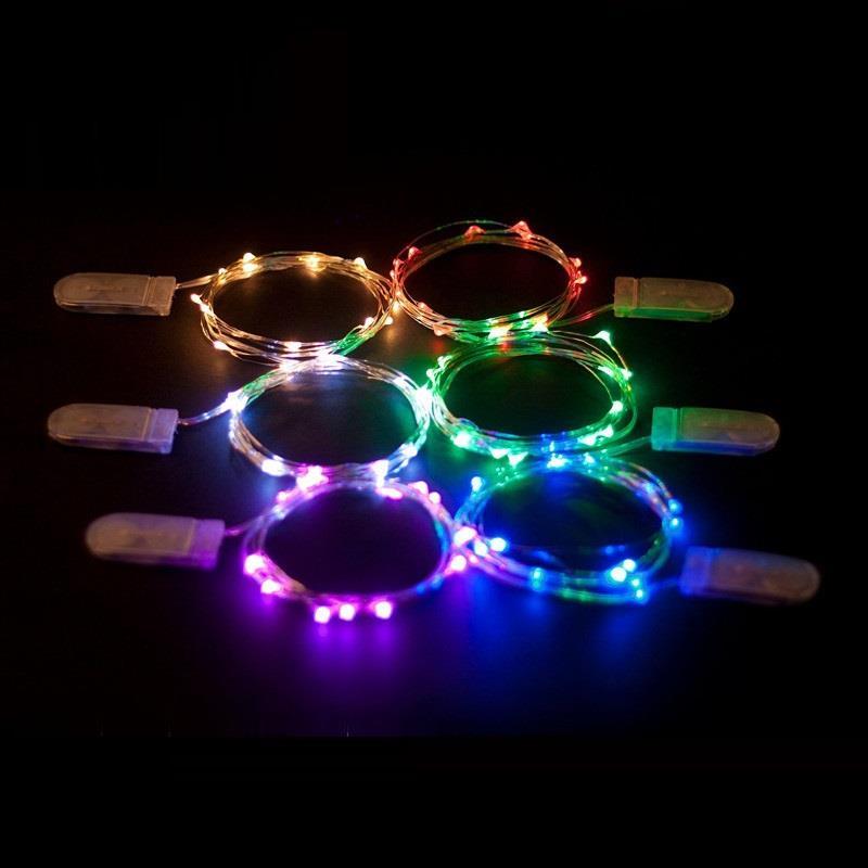 Bộ 2 Đèn led dây, đèn led trang trí dây đồng mini - mix màu