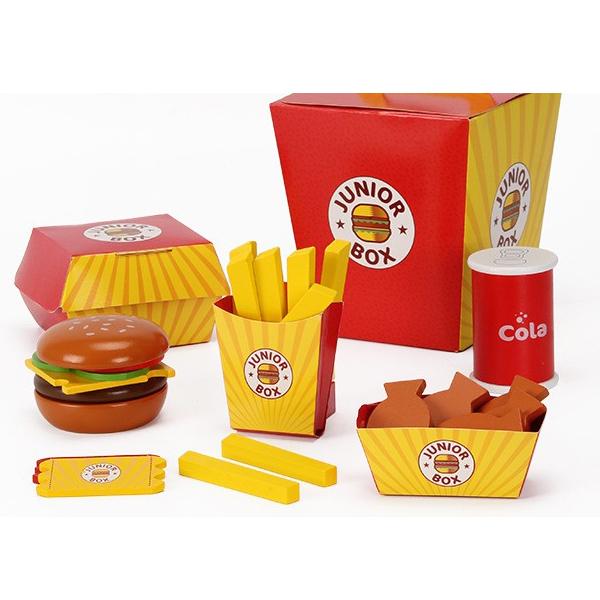 Đồ Chơi Gỗ - Thức ăn nhanh hambuger đáng yêu và sinh động cho bé thỏa sức vui chơi và trải nghiệm