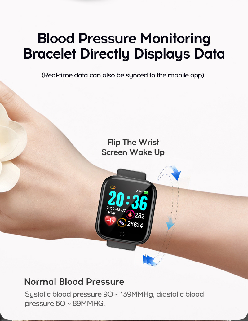 Đồng hồ thông minh Y68 LED và cảm ứng siêu mượt, hiển thị Cuộc gọi, Theo dõi sức khoẻ - Giao màu ngẫu nhiên