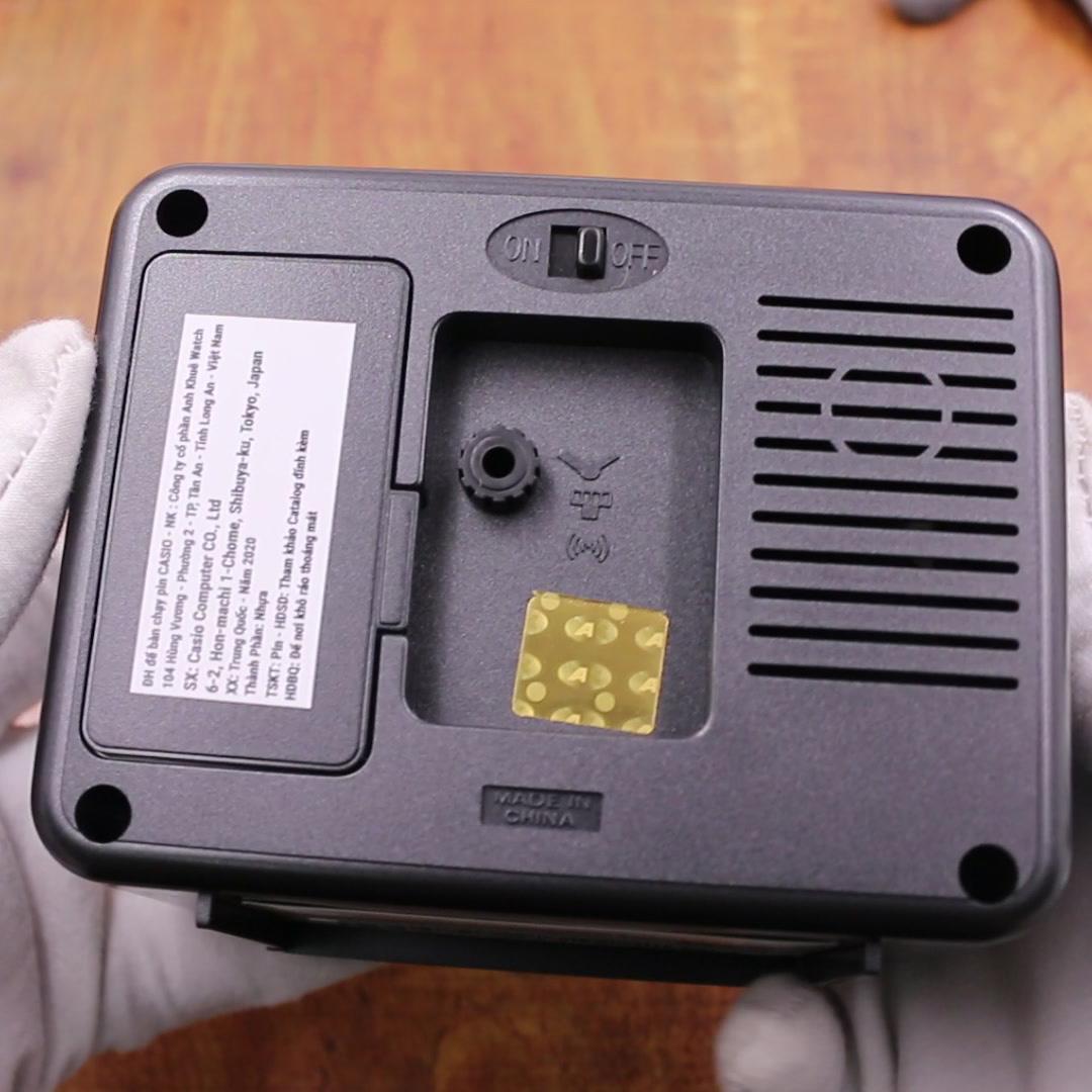 Đồng Hồ Để Bàn Casio TQ-218-1DF Báo Thức - Dạ Quang Cỡ To - Kích Thước Vỏ  ( 9 ×10.7 × 6 cm )