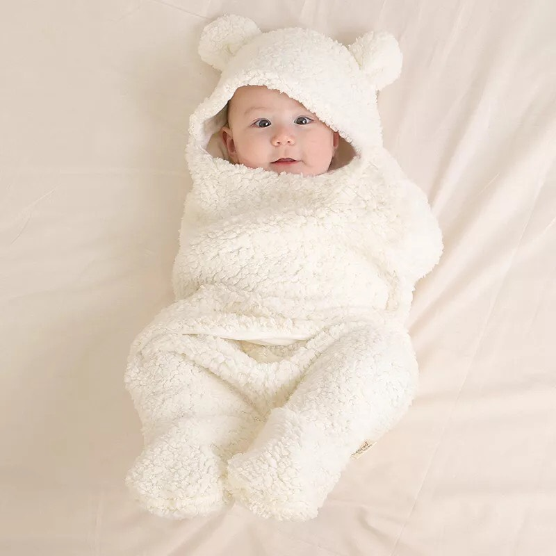 Chăn ủ lông cừu hình thú cho bé yêu