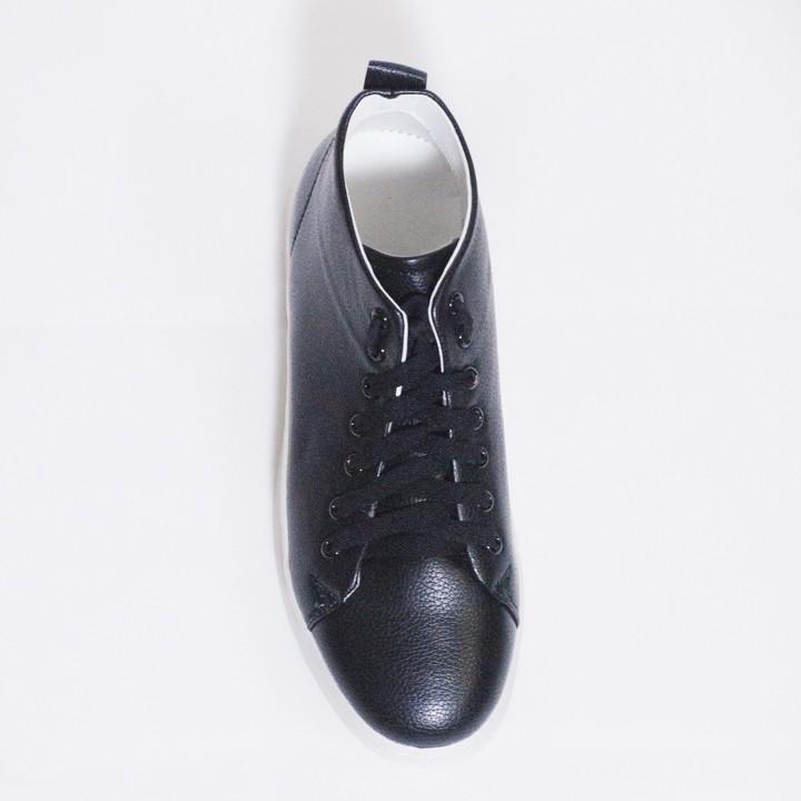 Giày Thể Thao Nam Cổ Lửng Màu Đen Đế Khâu Chắc Chắn Rất Năng Động - T447-DEN(TL)-DEN