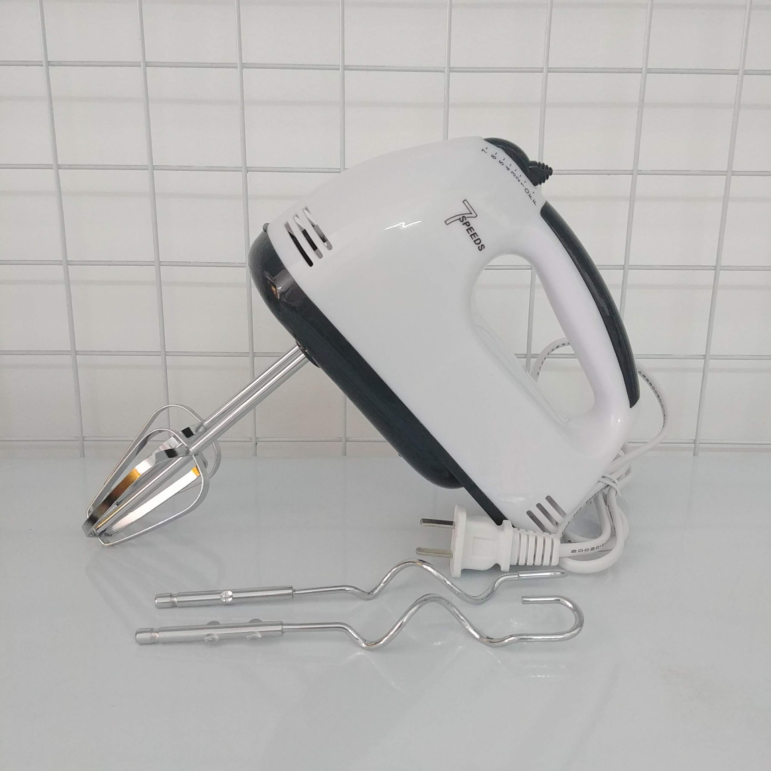 Máy Đánh Trứng Cầm Tay 7 Tốc Độ Công Suất 180W ( tặng kèm 1 móc khóa dễ thương)