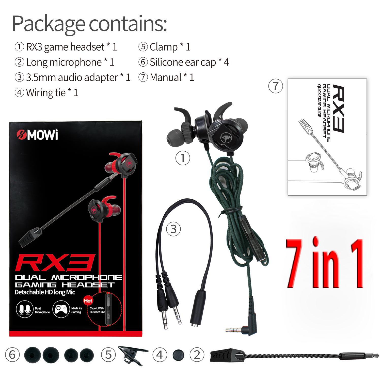 Tai Nghe Nhét Tai xMOWI RX3 Dùng Được Cho Cả PC, Laptop Và Điện Thoại - Dual Mic - Super Bass - Chơi Game - Hàng Chính Hãng