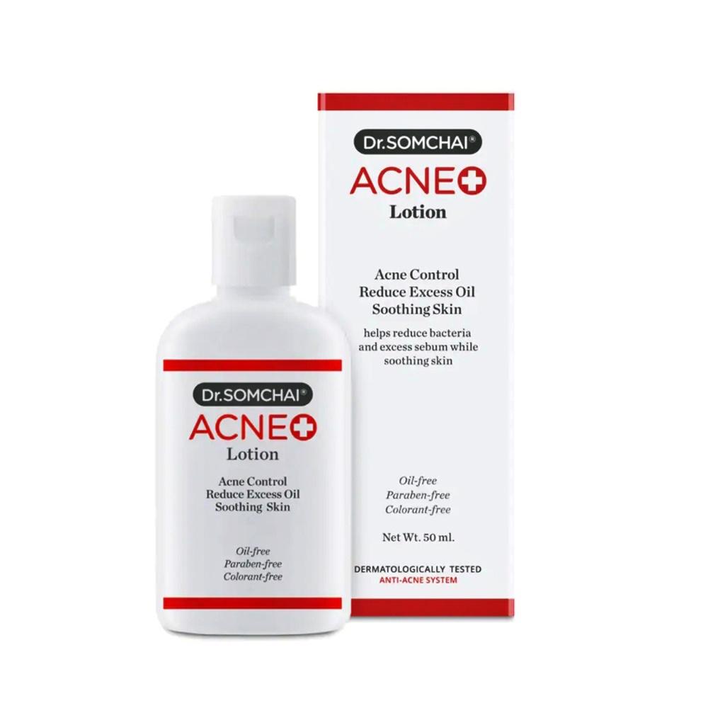 Lotion dưỡng da giúp loại bỏ dầu thừa, bụi bẩn, giúp làn da bạn trông săn chắc và mịn màng hơn DR.SOMCHAI ACNE LOTION 50ml