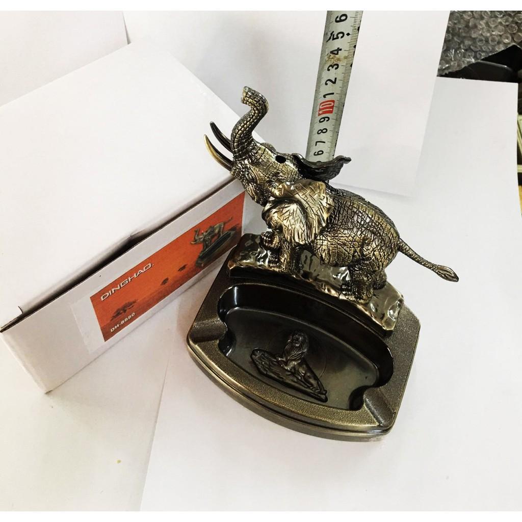 Gạt tàn 2in1 kiêm bật hình CON GÀ đế kim loại chống cháy-EVA.STORES