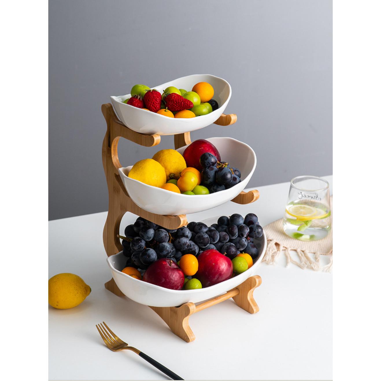 Khay tầng đựng trái cây, bánh mứt K1219-3
