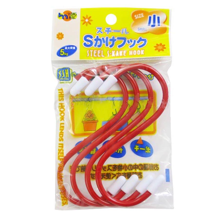 Set 4 Móc Treo Chịu Lực Chữ S (10cm) - Nội Địa Nhật Bản