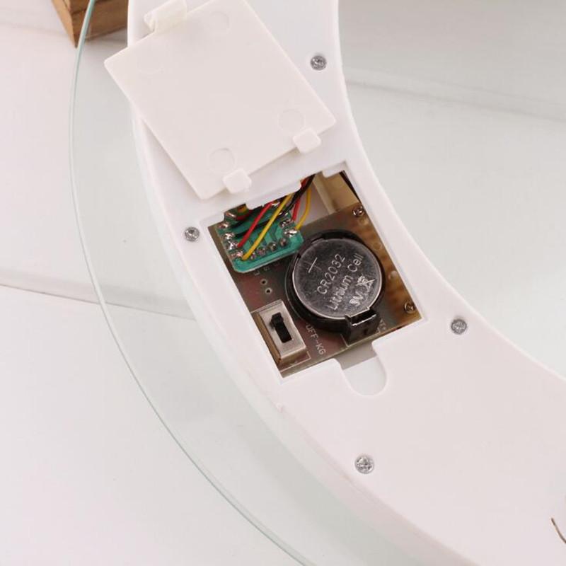 Cân điện tử, cân sức khỏe gia dụng mặt kính trong suốt - tặng kèm móc treo khăn 3 móc