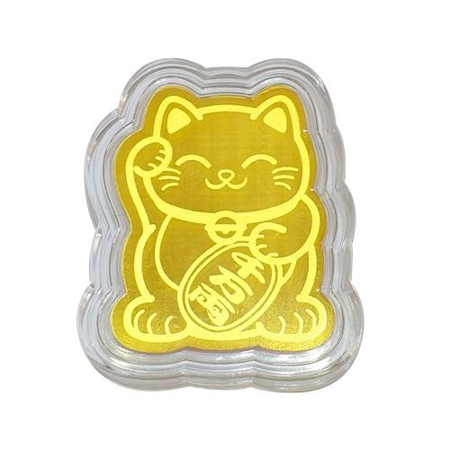 Túi Xách, Túi Cói In Hình Dể Thương Kèm Miếng Dán Điện Thoại Hình Mèo Vàng ( Giao Mẫu Ngẫu Nhiên )