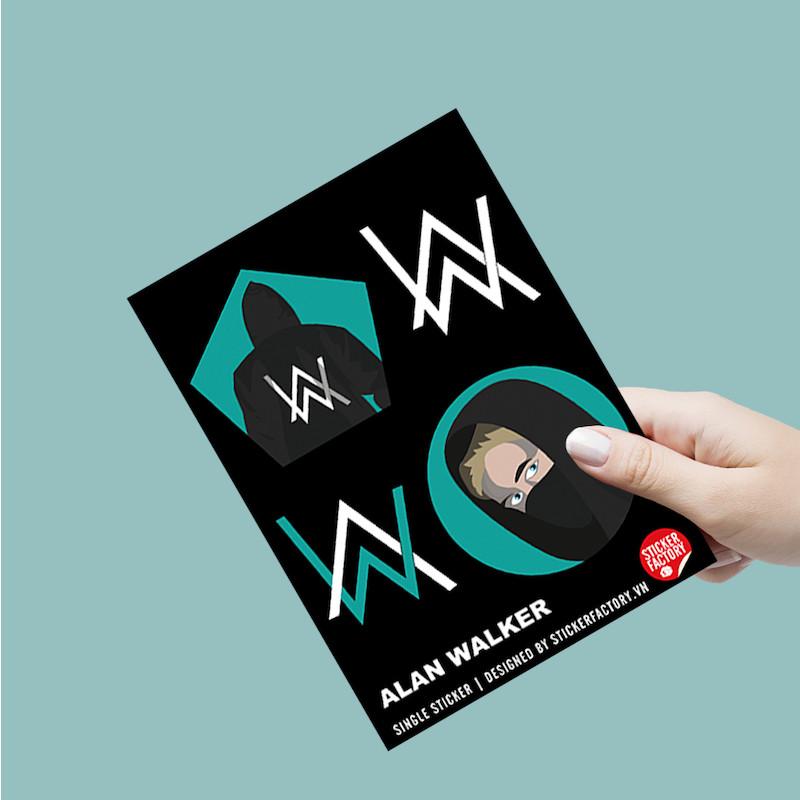 Alan Walker - Single Sticker hình dán lẻ
