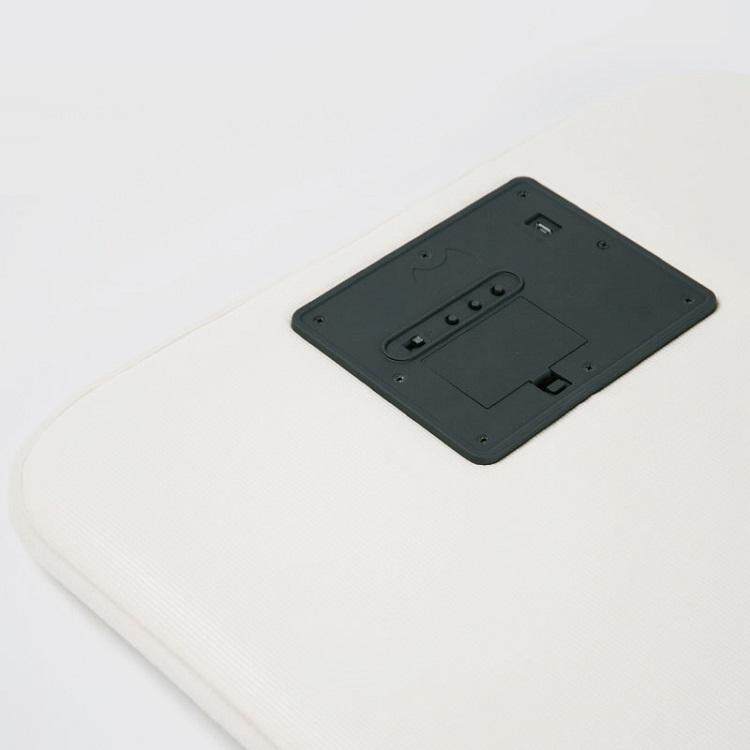Đồng hồ thông minh báo thức kiêm thảm để chân cao cấp (cổng sạc USB)- (Tặng 3 nút kẹp cao su giữ dây điện- màu ngẫu nhiên)