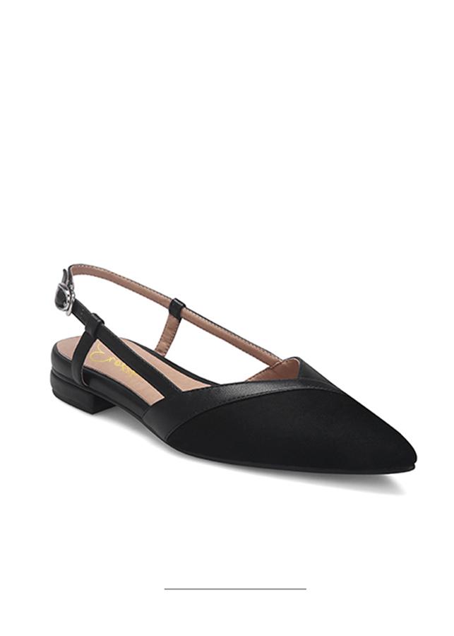 Giày Sandal Nữ Đế Bệt Mũi Nhọn Thời Trang Erosska EL005 ( Màu Đen)