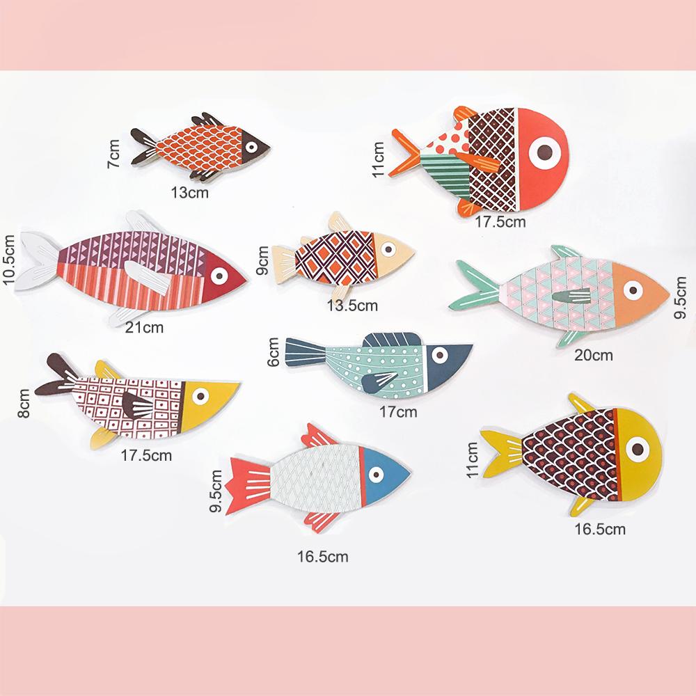 BỘ TRANH COLOR FISHES TREO TƯỜNG TRANG TRÍ PHÒNG KHÁCH, PHÒNG NGỦ, PHÒNG ĂN - TẶNG KÈM BĂNG DÍNH 3M SIÊU DÍNH TREO TRANH CHUYÊN DỤNG - FH16