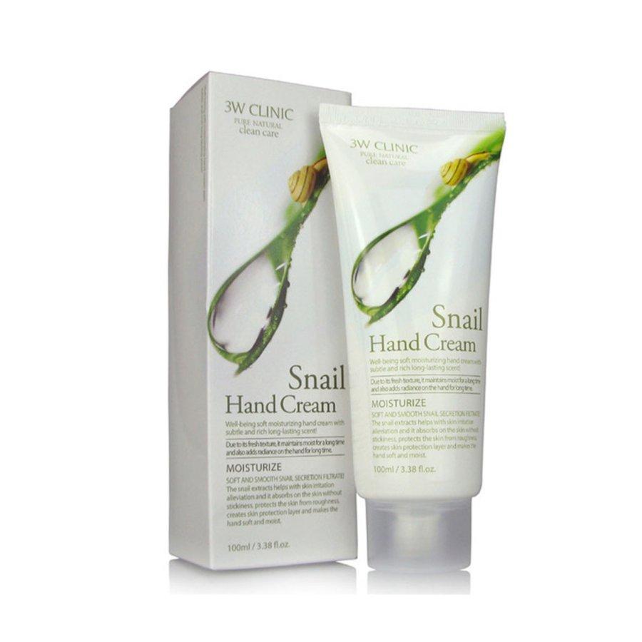 Kem dưỡng da tay ốc sên 3W Clinic Snail Hand Cream (100ml)