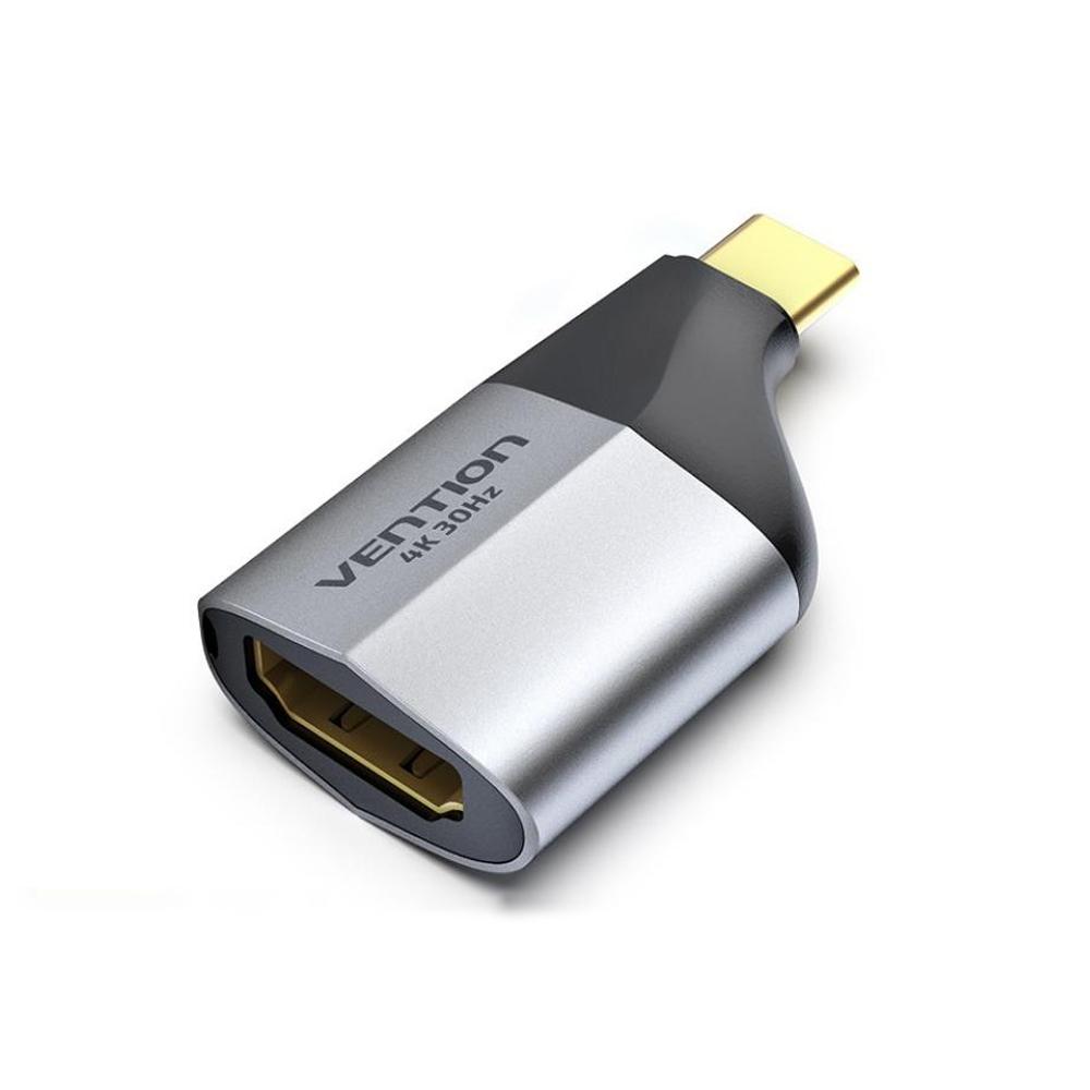 Đầu chuyển USB Type-C to HDMI Vention TCDH0, Hỗ trợ 4K@30Hz - Hàng chính hãng