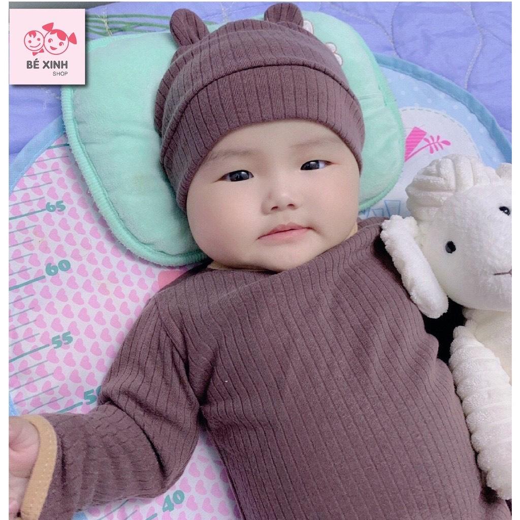 Quần áo đồ thu đông cho bé trai gái bé sơ sinh thun gân đồ ngủ