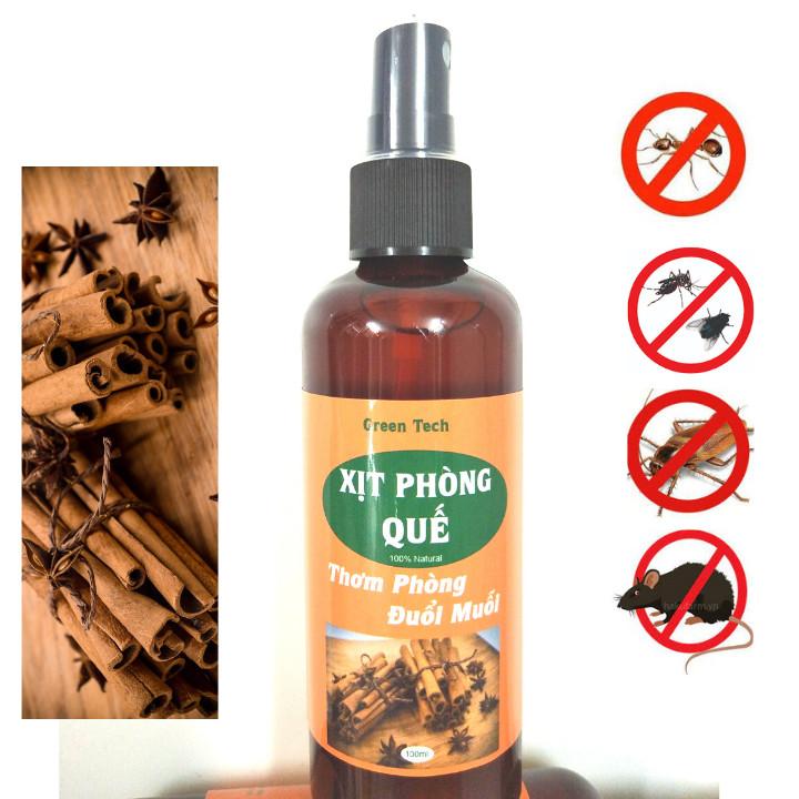 Xịt phòng sát khuẩn lọc không khí đuổi muỗi tinh dầu sả chanh 100ml giúp làm thơm phòng và đuổi côn trùng