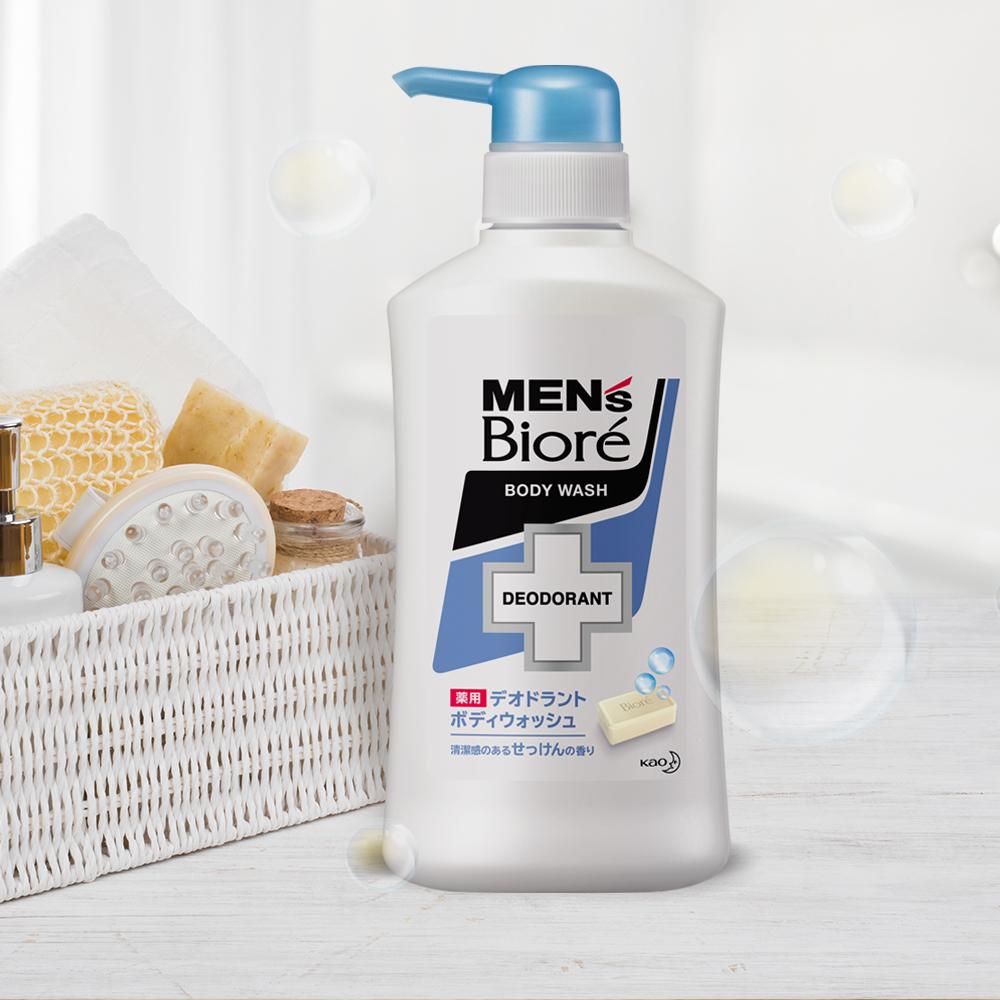 Sữa Tắm Khử Mùi Men's Bioré - Xà Phòng Thơm Mát (Chai) 440ml