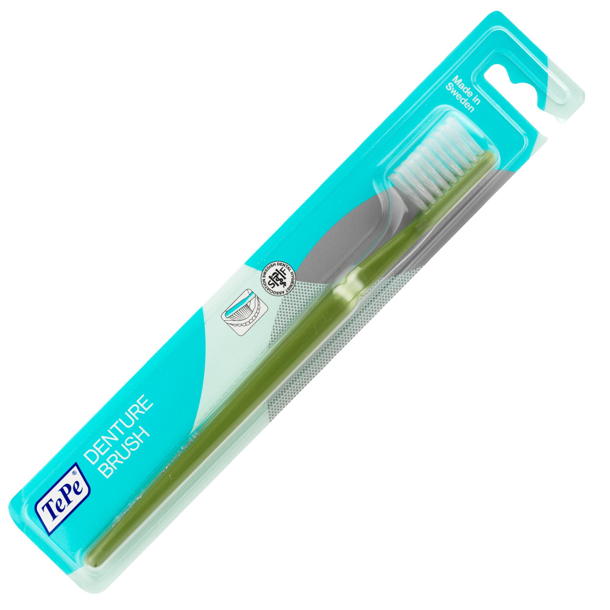 Bàn chải đánh răng dùng cho răng tháo rời Tepe Denture Brush nhiều màu