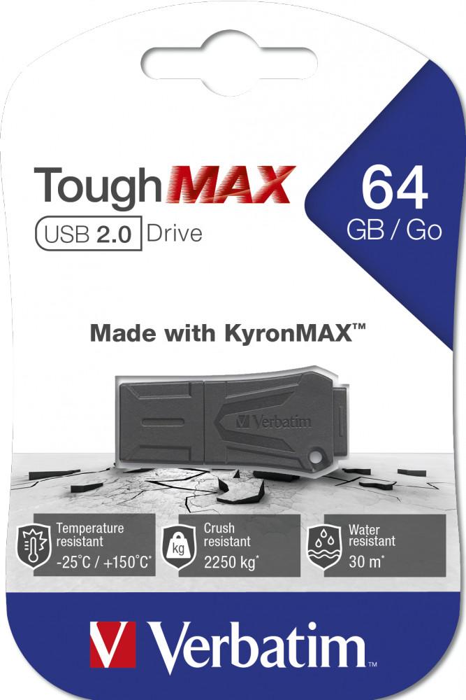 USB Verbatim ToughMAX USB 2.0 64 GB - Hàng chính hãng