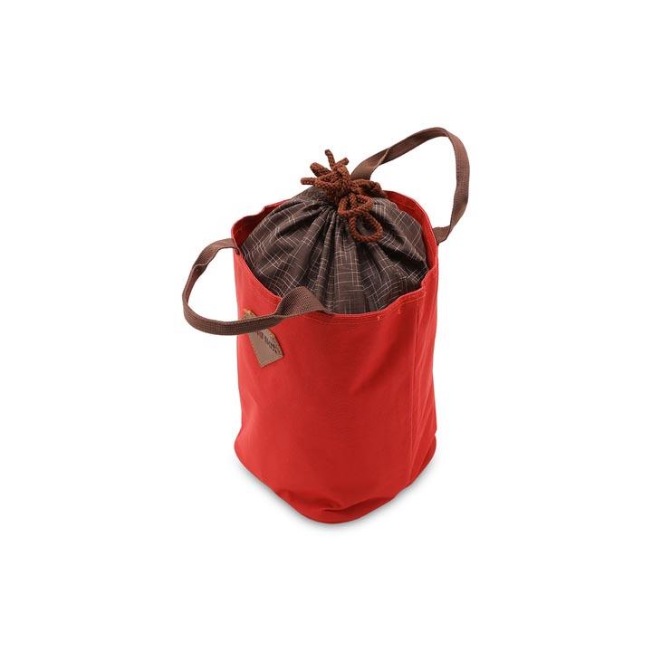 Túi giữ nhiệt văn phòng dây rút 2 lớp màu đỏ