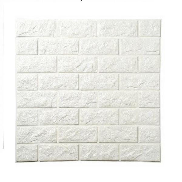 Xốp dán tường 3D Giả gạch Màu Trắng - Giấy dán tường màu trơn Thương hiệu  OEM | SieuThiChoLon.com