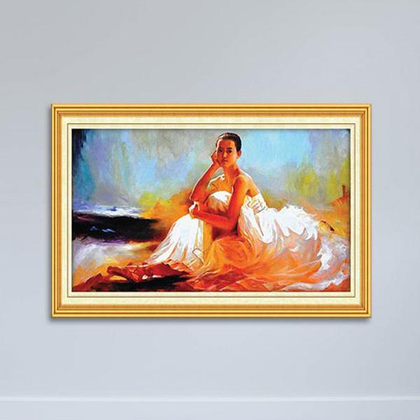 Tranh Sơn Dầu Cô Gái Đẹp Canvas W1144