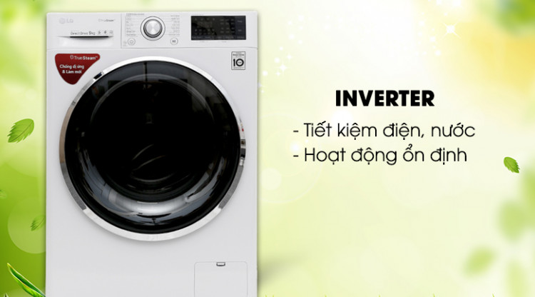 Công nghệ Inverter - Máy giặt LG Inverter 9 kg FC1409S2W