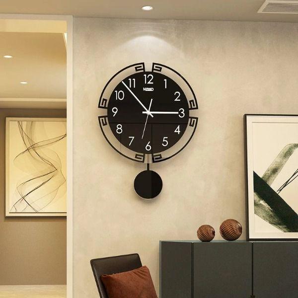 Đồng hồ treo tường quả lắc - trang trí phòng khách