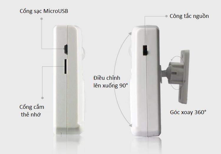 Báo khách cảm biến chuyển động hồng ngoại (gắn thẻ nhớ) - Tặng kèm 01 miếng thép đa năng để ví