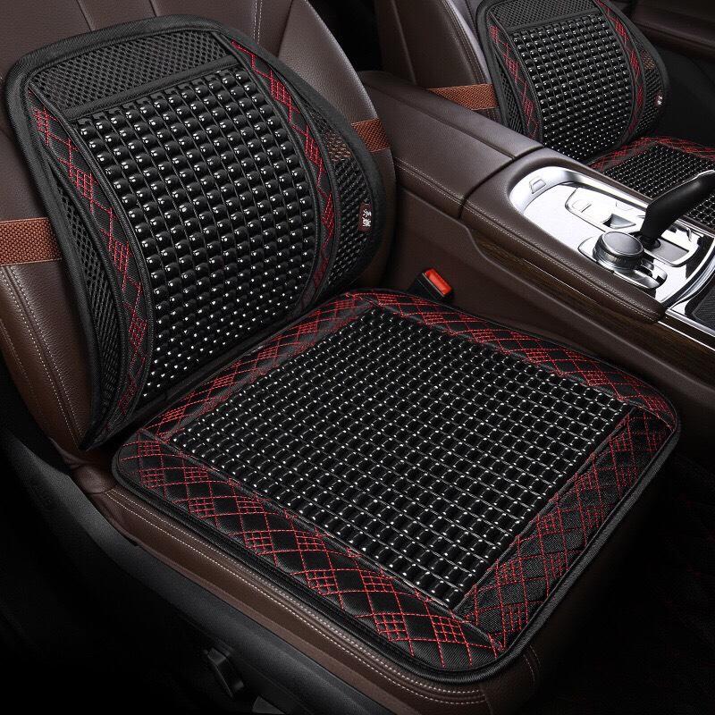 Tấm lót và ghế tựa lưng hạt gỗ có chống trựơt  xe ô tô